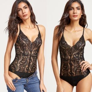 ✨New Item-Pretty Little Thing Lace Body Suit